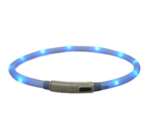 Collar - Blue Rechargeable Light Up Band - Three Humans & A Dog Company  - 1