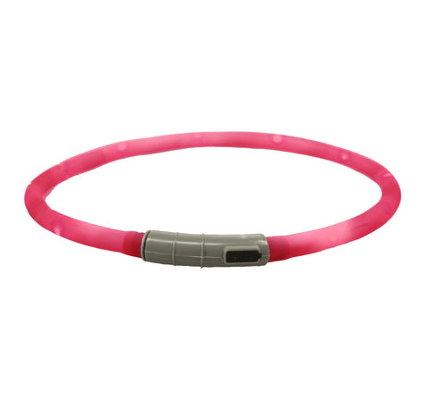 Collar - Pink Rechargeable Light Up Band