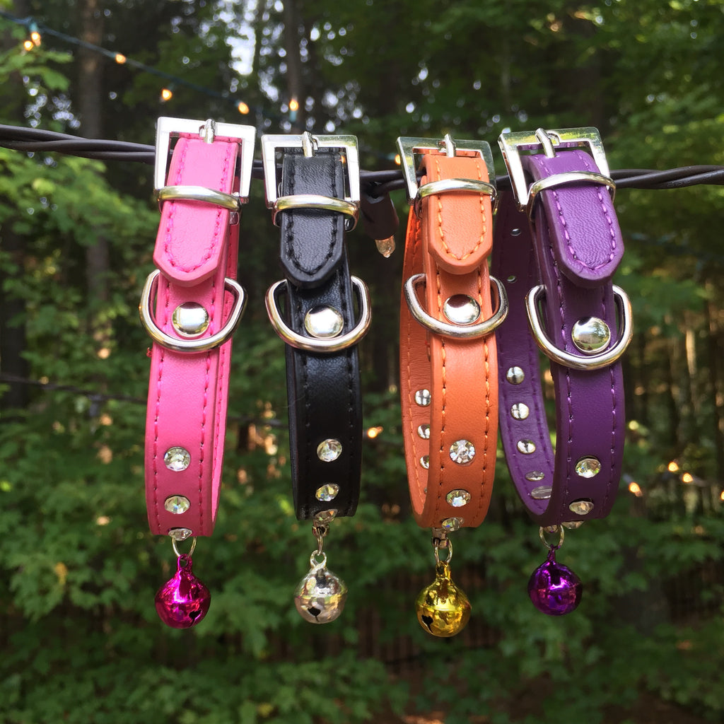 Collars - Classy Rhinestone Kitty Collars - Three Humans & A Dog Company
