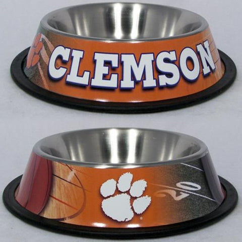 College Football - Clemson  Tigers Dog Bowls
