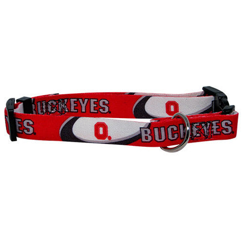 College - Ohio State Buckeyes Dog Collar - Three Humans & A Dog Company
