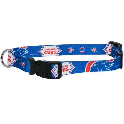 MLB - Chicago Cubs Dog Collar - Three Humans & A Dog Company