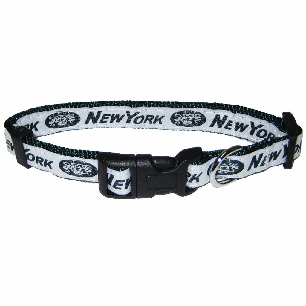 NFL - New York Jets Dog Collar - Ribbon - Three Humans & A Dog Company