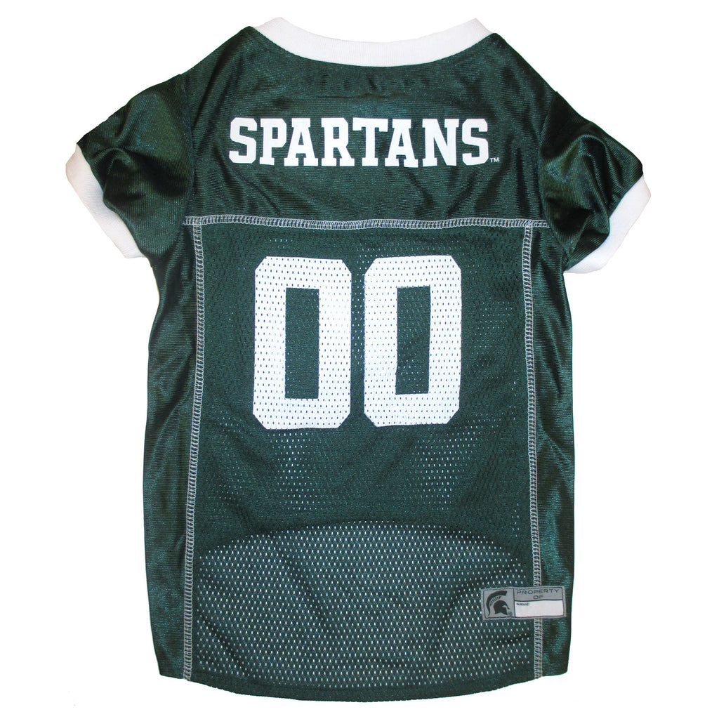 College  Football - Michigan State Spartans Dog Jersey - Three Humans & A Dog Company