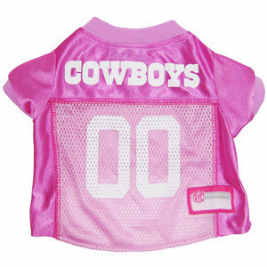 NFL - Dallas Cowboys Dog Jersey in Pink - Three Humans & A Dog Company