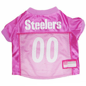 NFL - Pittsburgh Steelers Dog Jersey - In Pink - Three Humans & A Dog Company