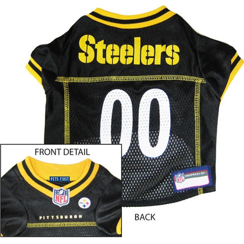 NFL - Pittsburgh Steelers Dog Jersey - Yellow Trim - Three Humans & A Dog Company  - 1