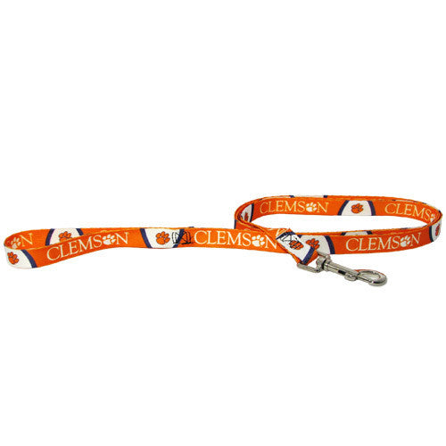 College Football - Clemson Tigers Dog Leash - Three Humans & A Dog Company
