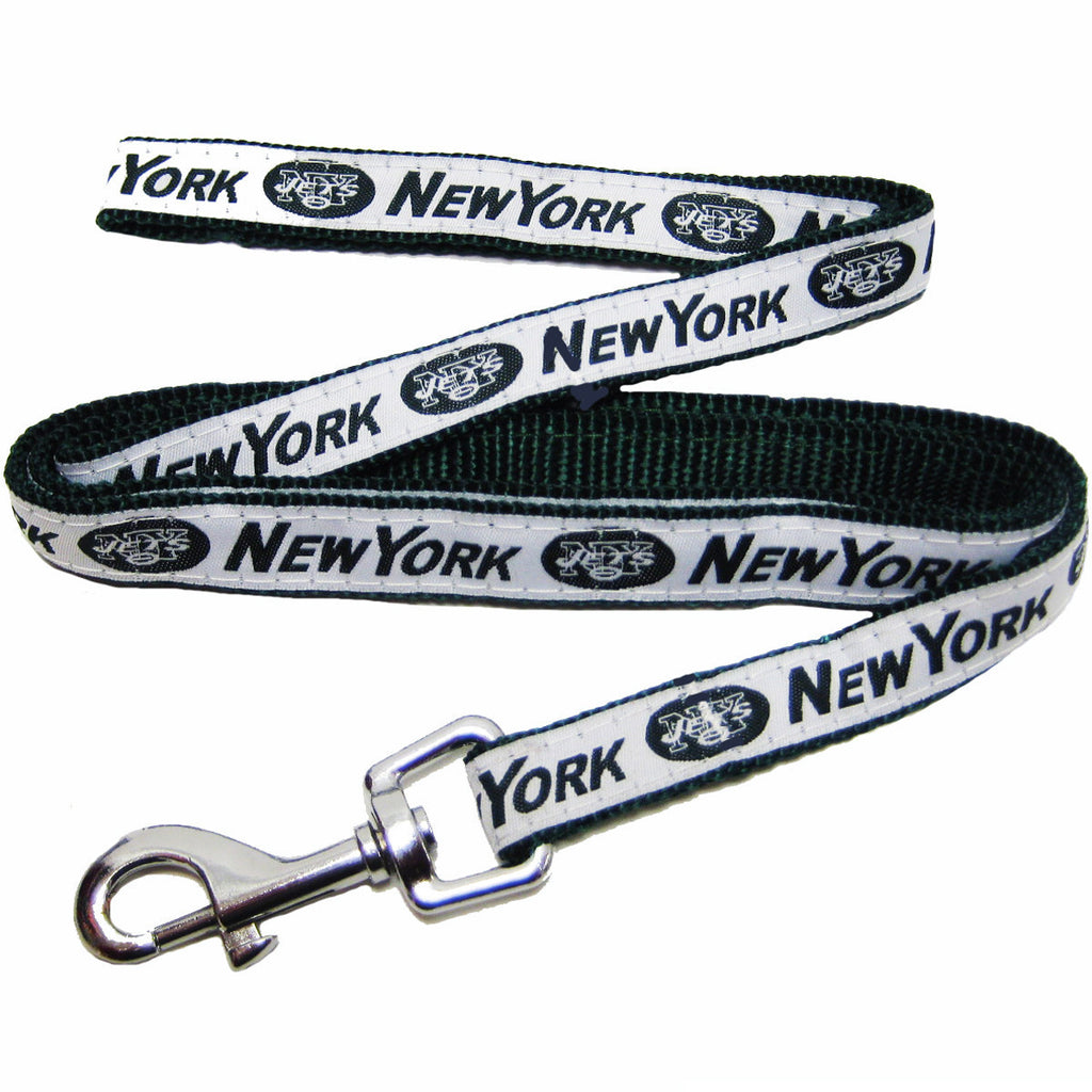 NFL - New York Jets Dog Leash - Ribbon - Three Humans & A Dog Company
