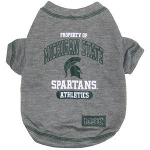 College - Michigan State Spartans Dog T-Shirt - Three Humans & A Dog Company