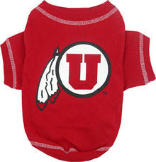 College - University of Utah Utes Dog T-Shirt