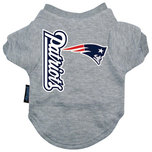 NFL - New England Patriot Dog T-Shirt - Three Humans & A Dog Company