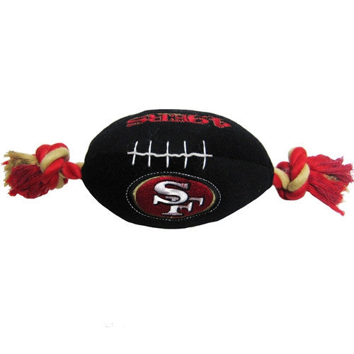 NFL - San Francisco 49ers Dog Plush Football - Three Humans & A Dog Company