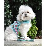 Accessories - Fabric Dog Harness with Leash - Surfboards and Palms