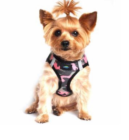 Accessories - 	American River Choke Free Harness - Pink Camouflage