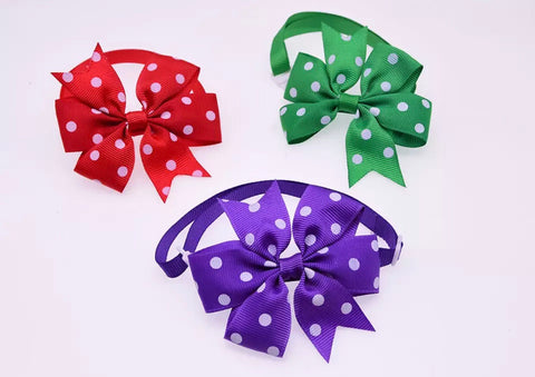 Ribbon Bow - Polka Dot Ribbon Bow