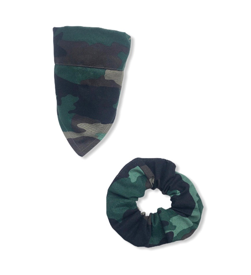 Bandana - Camouflage  - Bandana &  Hair Scrunchie Set
