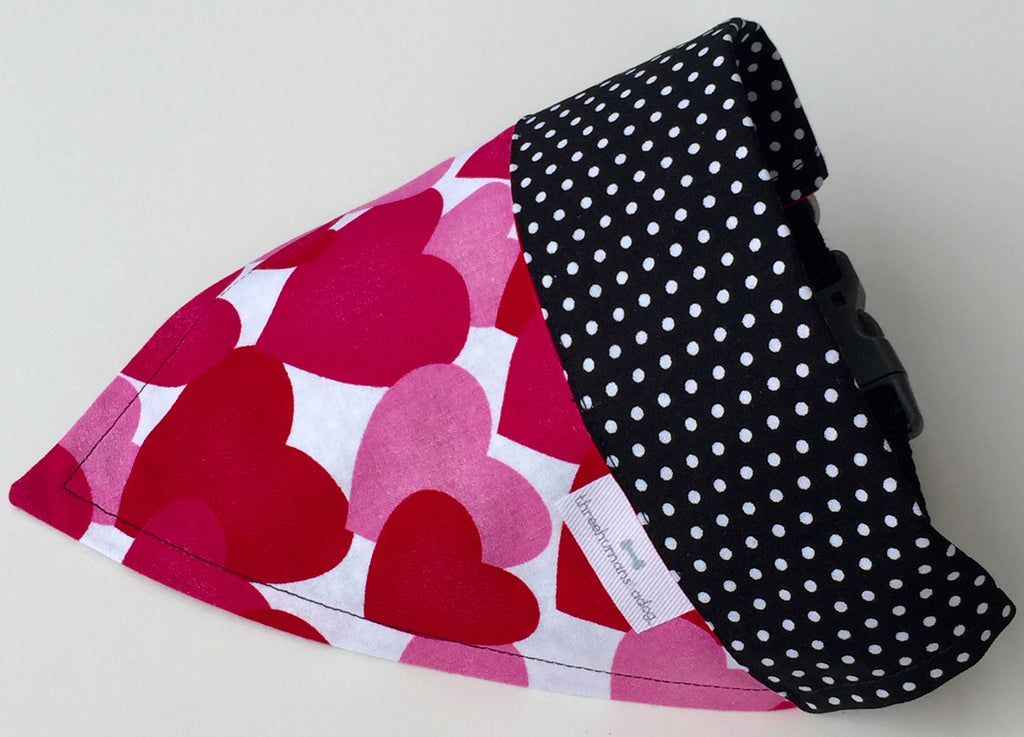 Bandana - Designed Valentine Love - Three Humans & A Dog Company