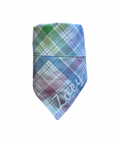 Bandana - Pastel Easter Plaid