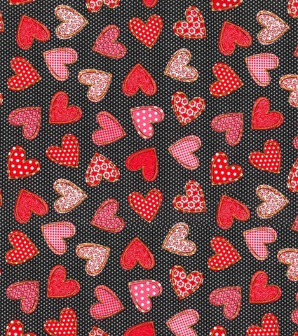 Bandana - Designed - Hearts on Dots