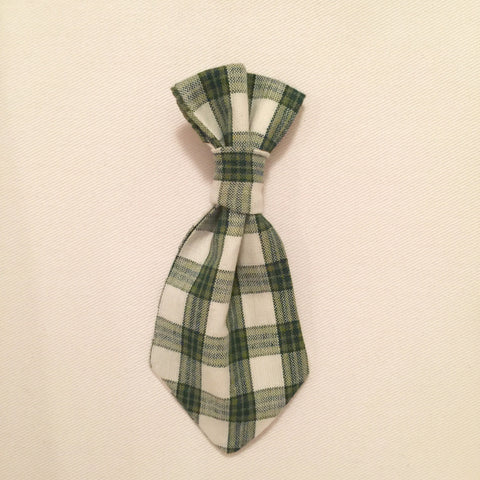 Pet Tie - Light Green Plaid