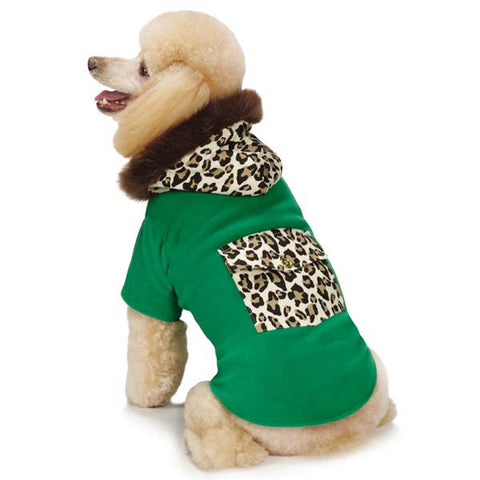 Dog Coat - M Isaac Mizrahi Luxe Leopard Coat - Three Humans & A Dog Company