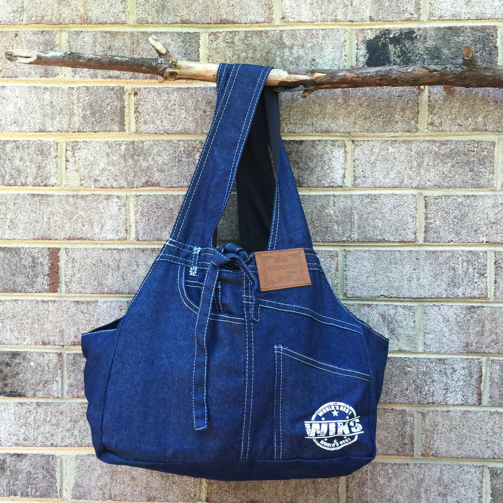 Carrier - Denim Pet Shoulder Bag - Three Humans & A Dog Company