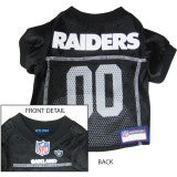 NFL - Oakland Raiders Dog Jersey - Three Humans & A Dog Company