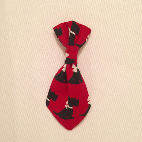 Pet Tie - Red Schnauzer