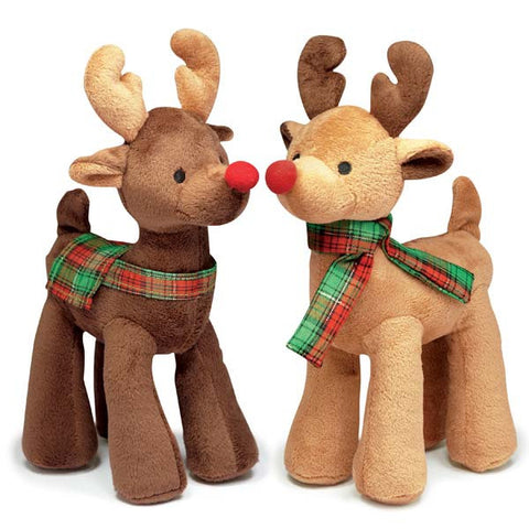 Dog Toy - Radiant Tartan Reindeer