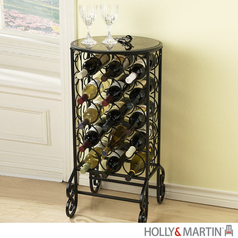 Holly & Martin Monterey Glass Top Wine Table - Harvey & Haley