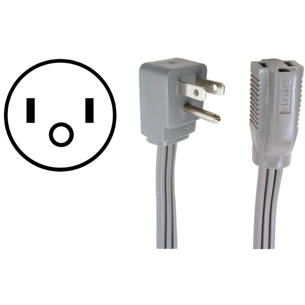CERTIFIED APPLIANCE 90-0306 Appliance Extension Cord (6ft) - Harvey & Haley