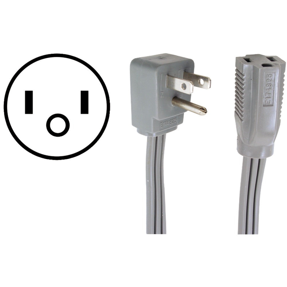 CERTIFIED APPLIANCE 15-0312 Appliance Extension Cord (12ft) - Harvey & Haley