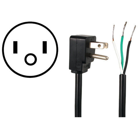 CERTIFIED APPLIANCE 15-0333 Power Supply Cord (90-angle plug; 3ft) - Harvey & Haley
