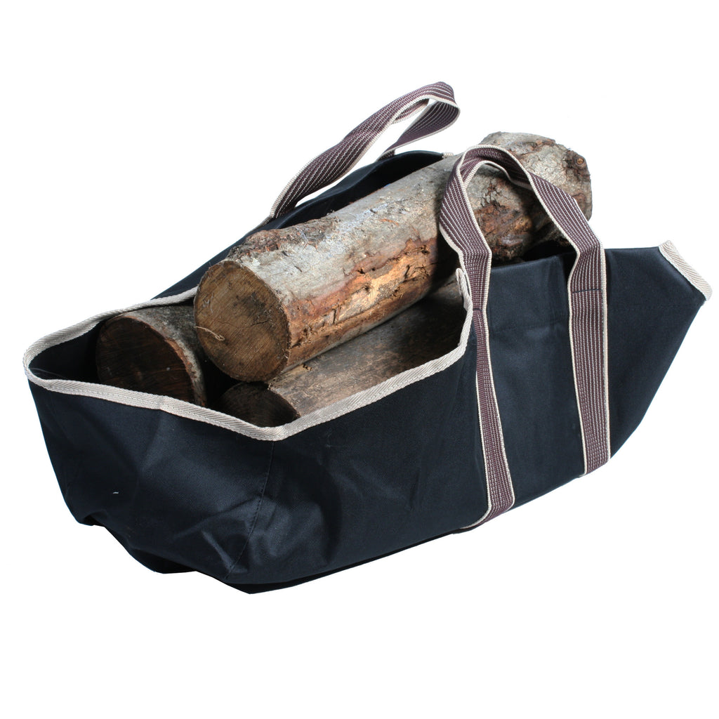 Portable Canvas Heavy Duty Log Carrier Makes Moving Logs Easy - Harvey & Haley