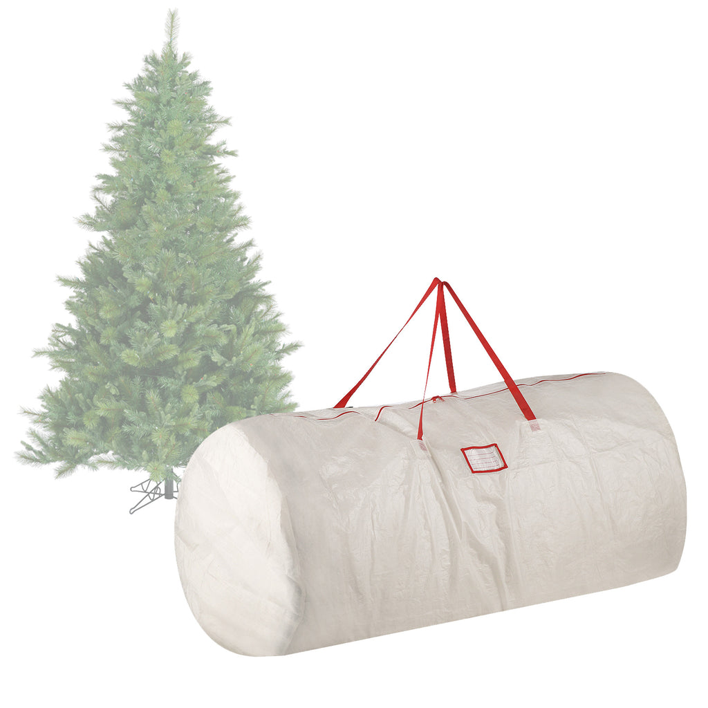 Elf Stor Premium White Holiday Christmas Tree Storage Bag Large For 9 Foot Tree - Harvey & Haley