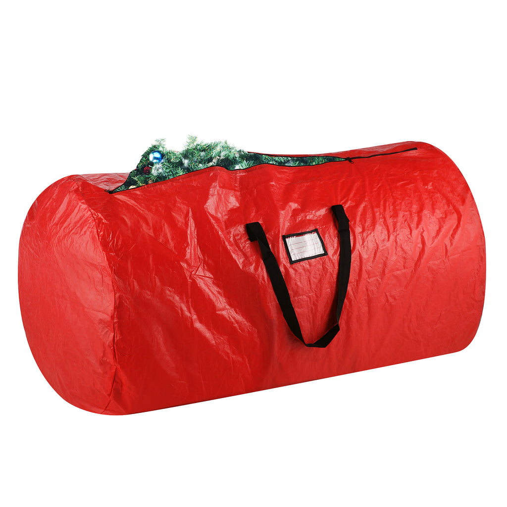 Elf Stor Deluxe Red Holiday Christmas Tree Storage Bag Large For 9 Foot Tree - Harvey & Haley