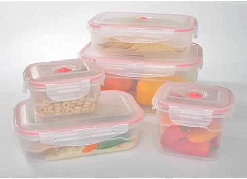 11-pcs Vacuum Food Storage Containers, Rectangular - Harvey & Haley
