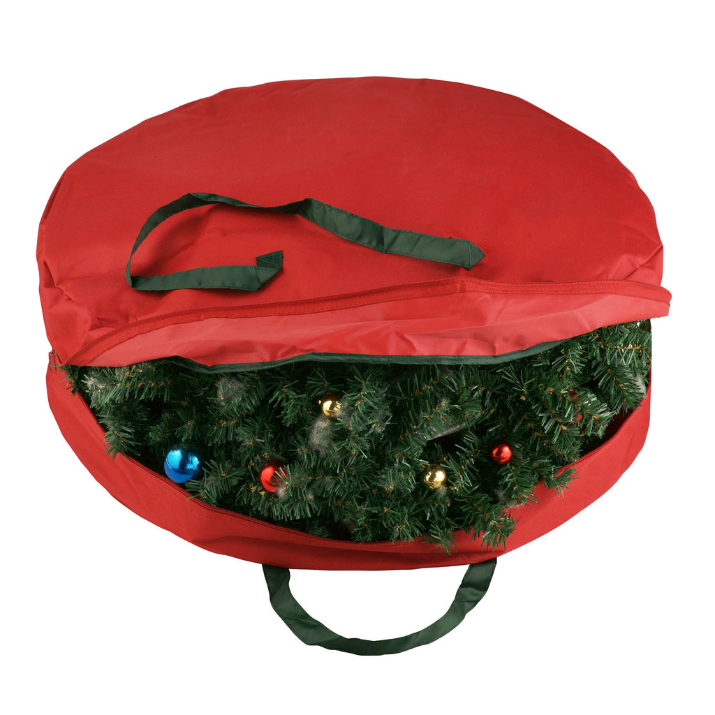 "Elf Stor Supreme Canvas Holiday Christmas Wreath Storage Bag For 30"" Wreaths - Harvey & Haley"