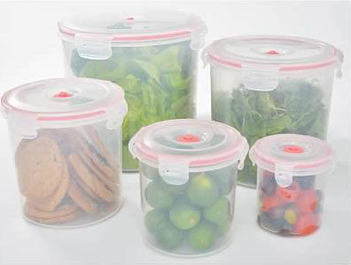 11-pcs Vacuum Food Storage Containers, Round - Harvey & Haley