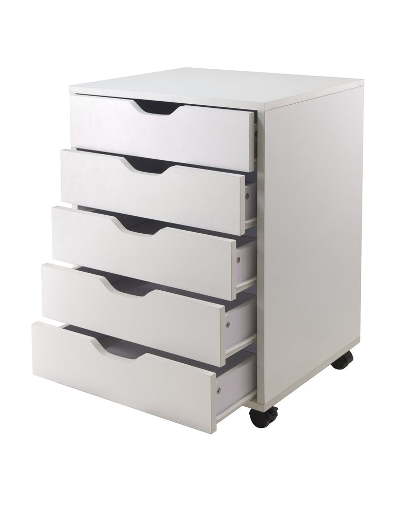 Halifax Cabinet For Closet / Office, 5 Drawers, White - Harvey & Haley