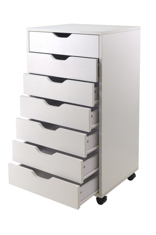 Halifax Cabinet For Closet / Office, 7 Drawers, White - Harvey & Haley
