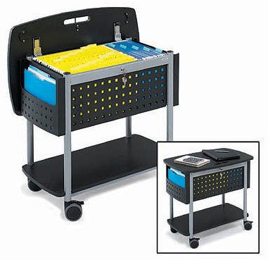 "Scoot Mobile File Cart - roll files anywhere (Black) (27""H x 30""W x 19""D) - Harvey & Haley"