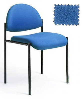 "Stackable Armless Chair - Durable and Functional (Blue) (31.5""H x 23.5""W x 19.75""D) - Harvey & Haley"