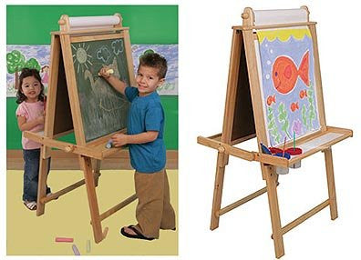 "Deluxe Wood Easel (Natural) (29"" H x 24.5"" W x 50.5"" D) - Harvey & Haley"