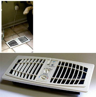 "The AirFlow Breeze Home Heating/Cooling System (Almond) (Fits 4""W x 10""L opening) - Harvey & Haley"