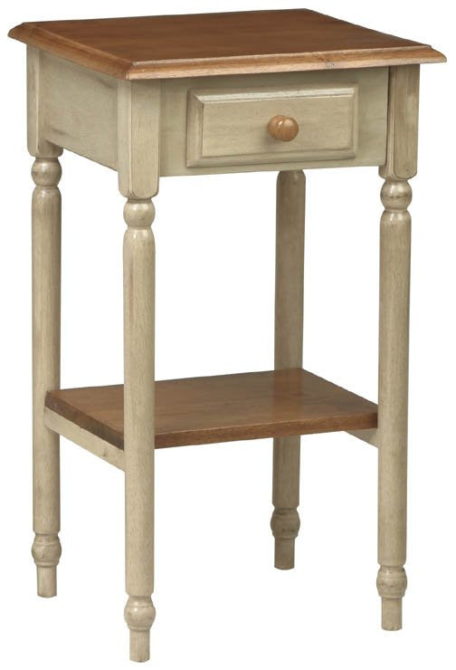 "Country Style Telephone Pedestal (Antique White) (28.38""H x 15""W x 17""D) - Harvey & Haley"