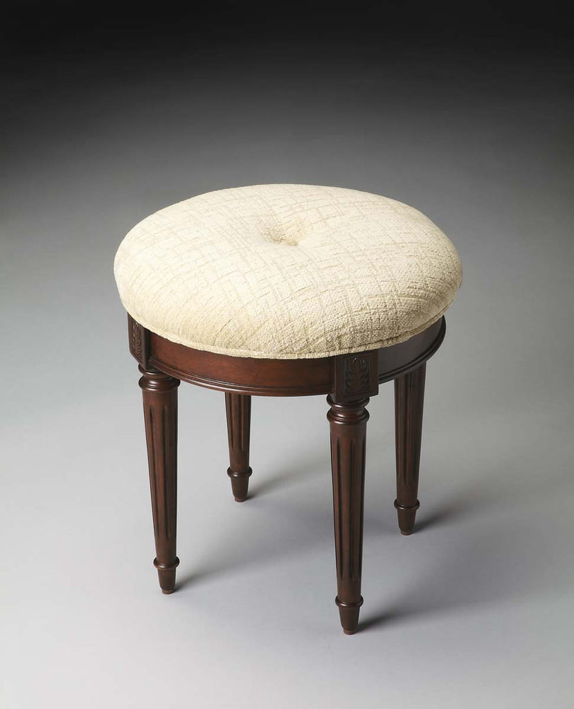 Vanity Stool Plantation Cherry - 1250024 - Harvey & Haley