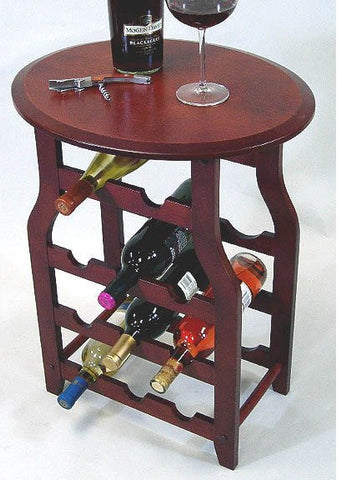 "Apachi Wine Rack Table - 11 Bottle (Mahogany) (15.5""H x 24""W x 18""D) - Harvey & Haley"