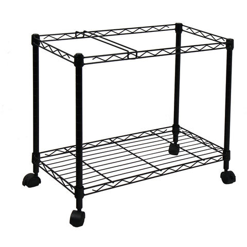 Oceanstar Portable 1-Tier Metal Rolling File Cart, Black - Harvey & Haley  - 1